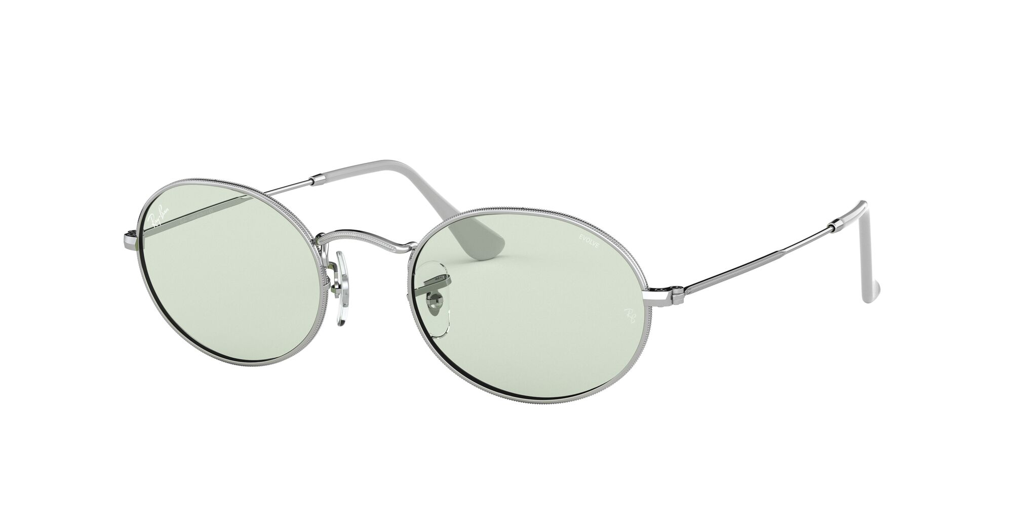 Angle_Left01 Ray-Ban Ray-Ban 0RB3547 003/T1 53/21 Zilver/Groen