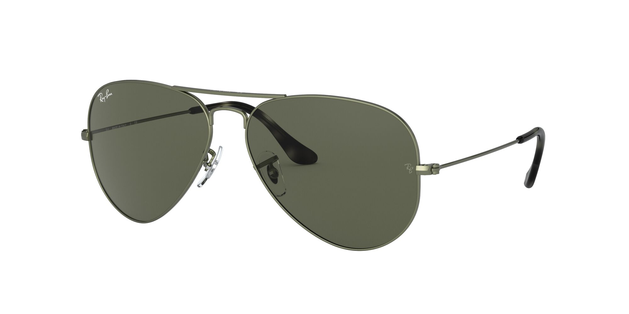 Angle_Left01 Ray-Ban Ray-Ban 0RB3025 919131 62/14 Beige, Green/Groen