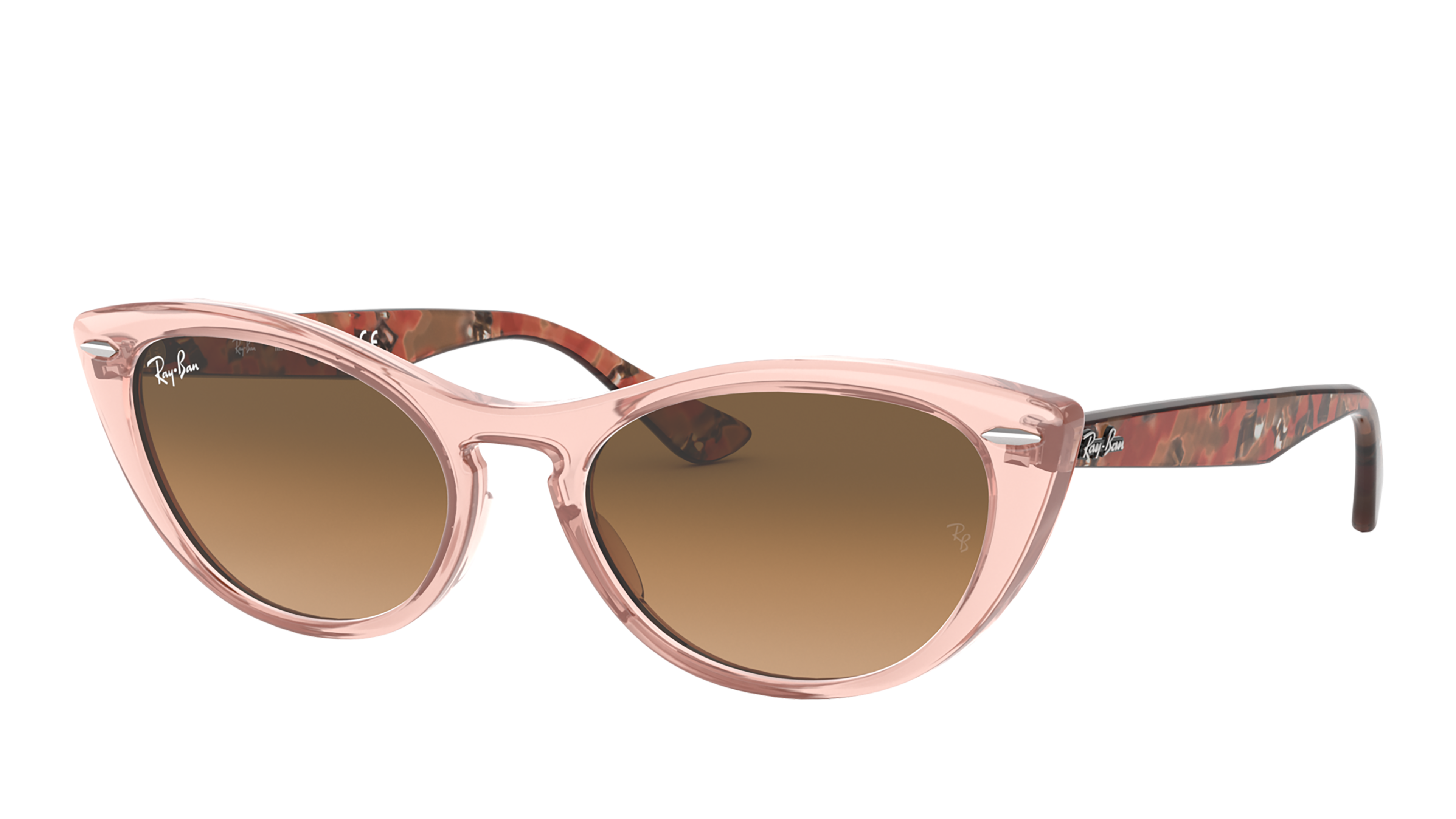 Angle_Left02 Ray-Ban Ray-Ban 0RB4314N 128151 54/18 Roze, Transparant/Bruin