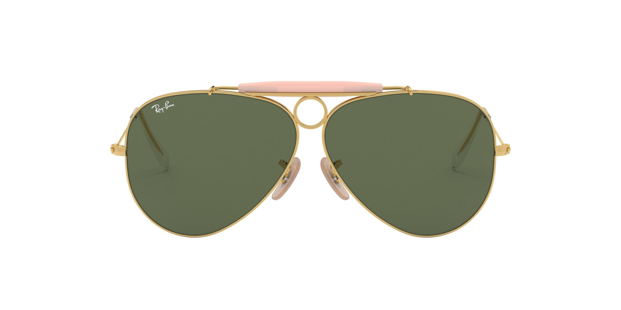Front Ray-Ban Ray-Ban 0RB3138 001 58/9 Goud, Groen/Groen