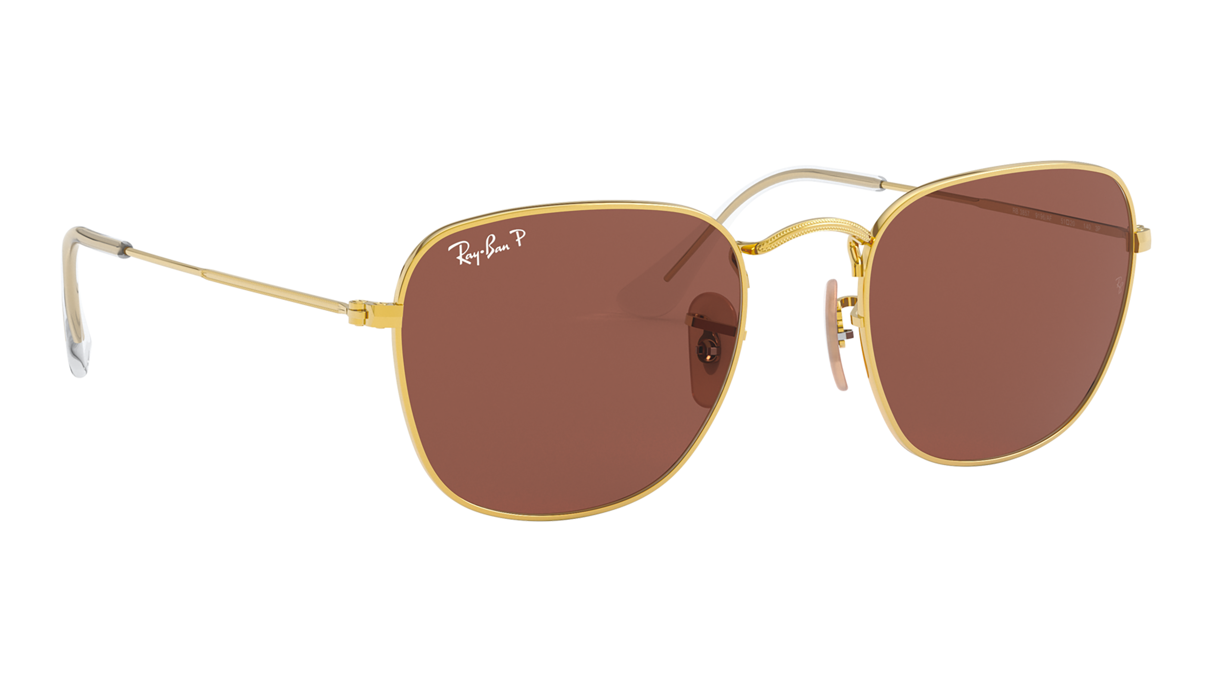 Angle_Right02 Ray-Ban Ray-Ban 0RB3857 9196AF 51/20 Goud/Rood