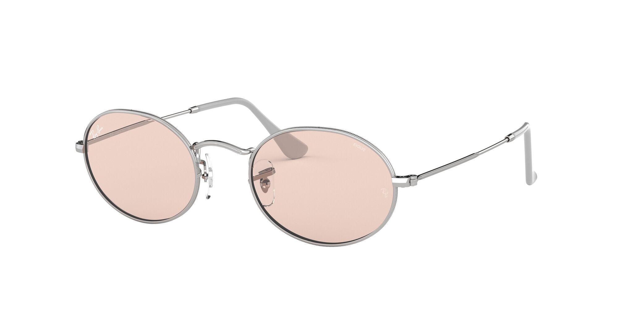 Angle_Left01 Ray-Ban Ray-Ban 0RB3547 003/T5 53/21 Zilver/Roze