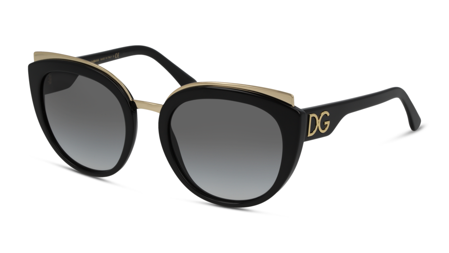 Angle_Left01 Dolce & Gabbana Dolce & Gabbana 0DG4383 501 8G 54/21 Zwart/Grijs