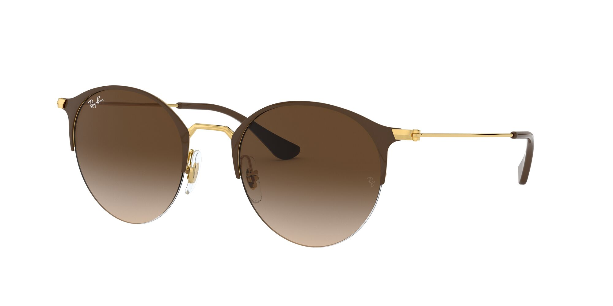 Angle_Left01 Ray-Ban Ray-Ban 0RB3578 900913 51/22 Zilver, Bruin/Bruin