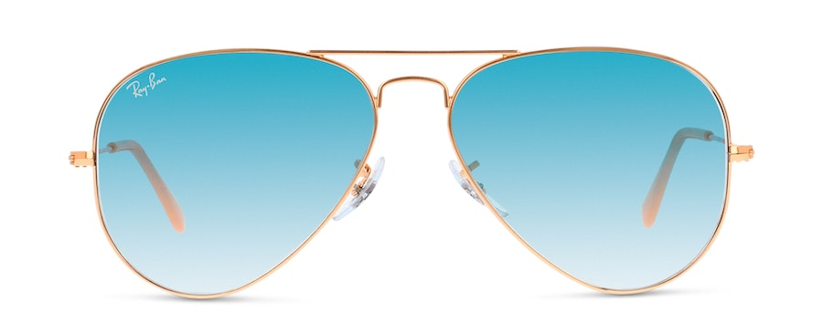 Ray-Ban AVIATOR LARGE METAL 3025 001/3F Blauw