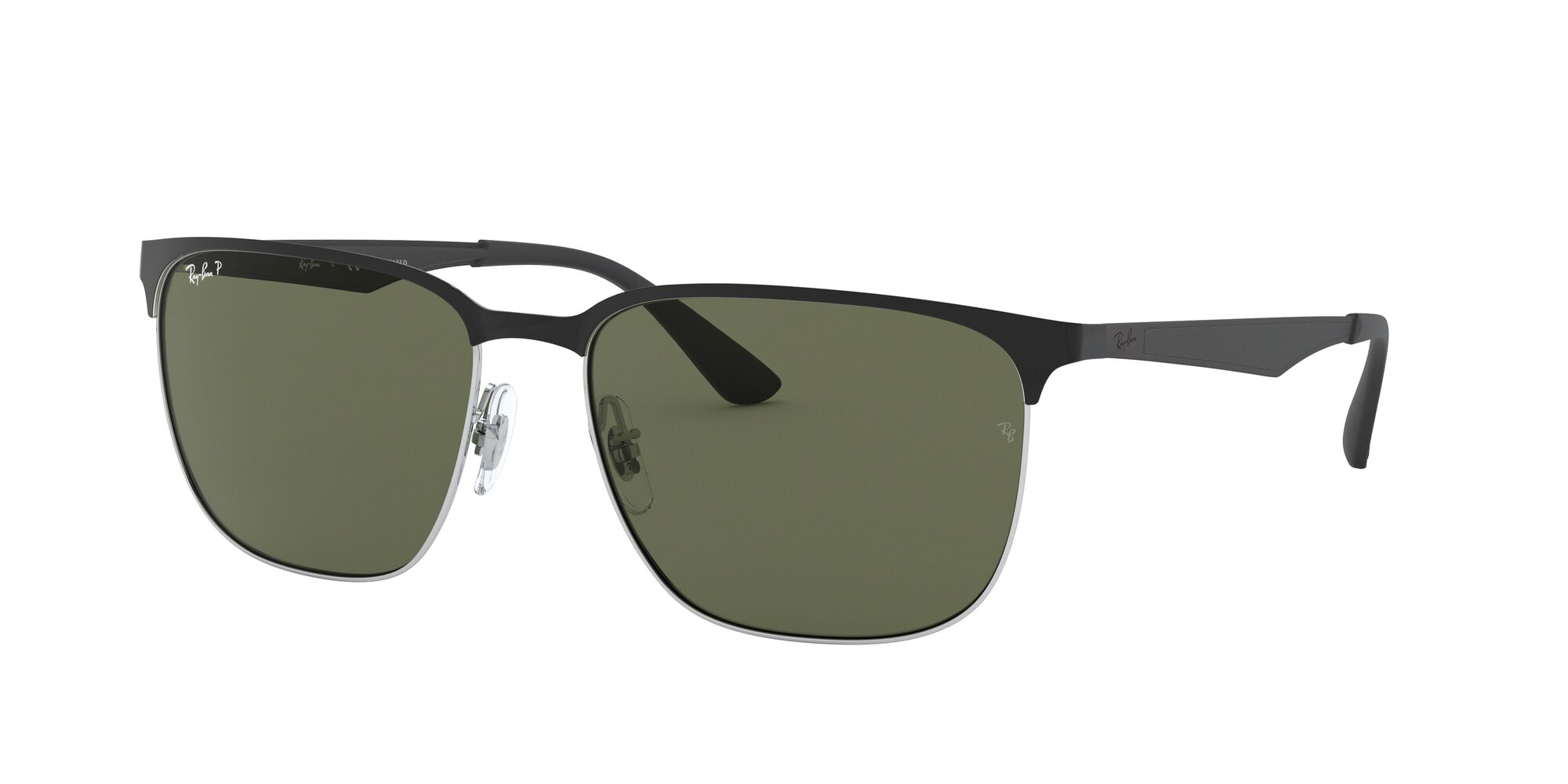 Angle_Left01 Ray-Ban Ray-Ban 0RB3569 90049A 59/17 Zilver/Groen