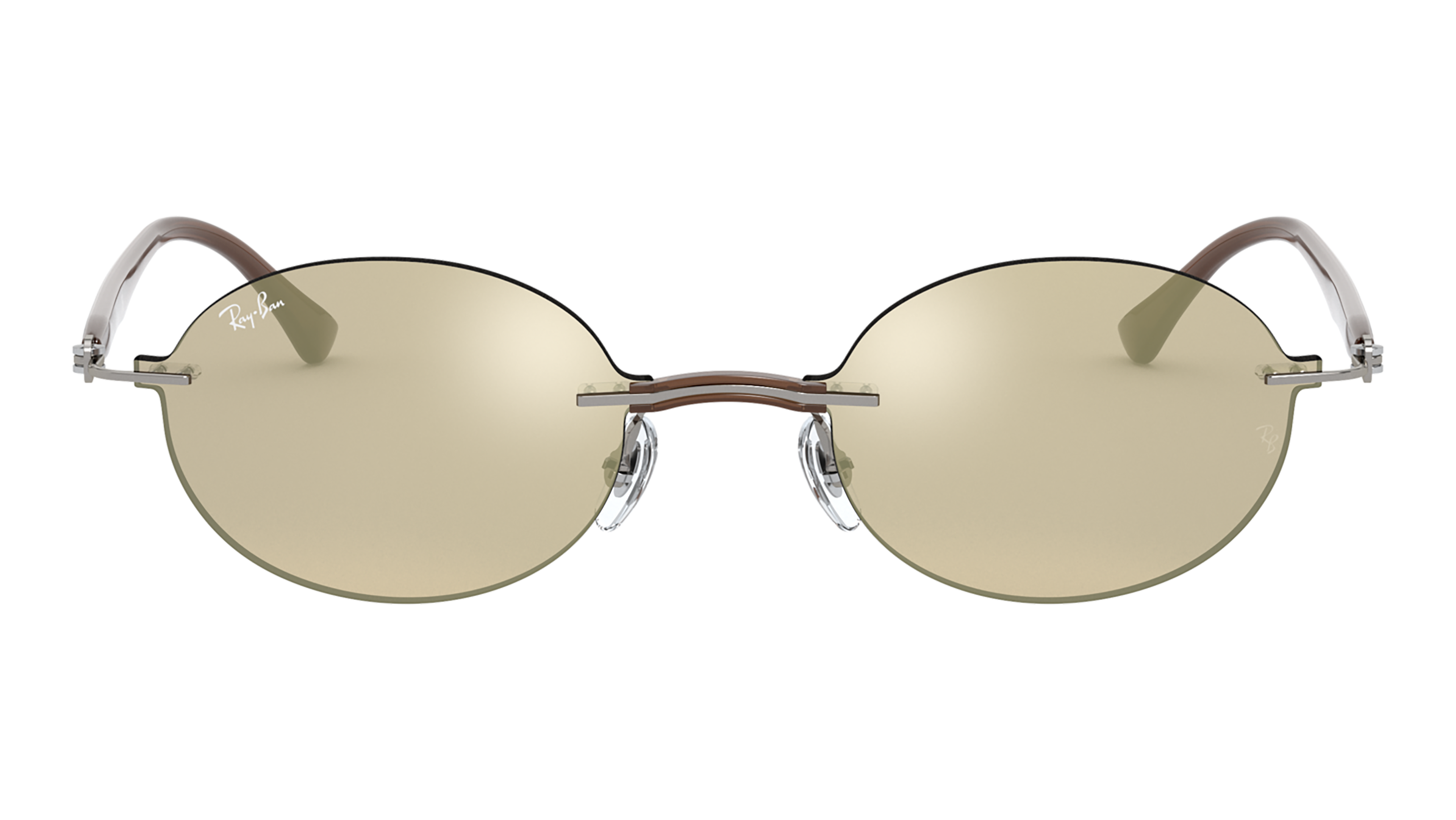 Front Ray-Ban Ray-Ban 0RB8060 159/5A 54/15 Transparant, Zilver/Grijs