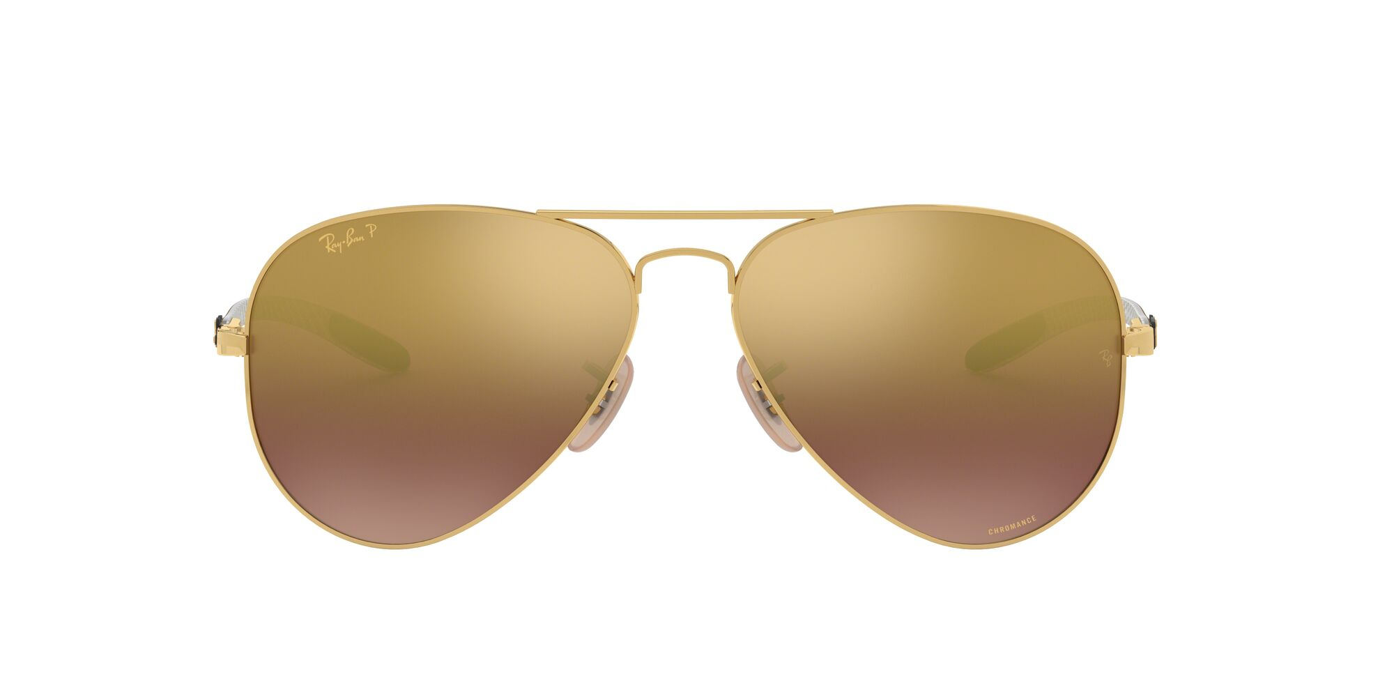 Front Ray-Ban Ray-Ban 0RB8317CH 001/6B 58/14 Goud/Paars