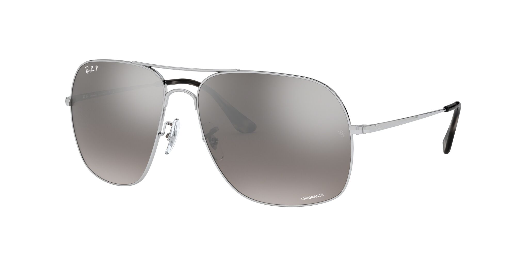 Angle_Left01 Ray-Ban Ray-Ban RB3587CH 003/5J 61/15 Zilver/Grijs