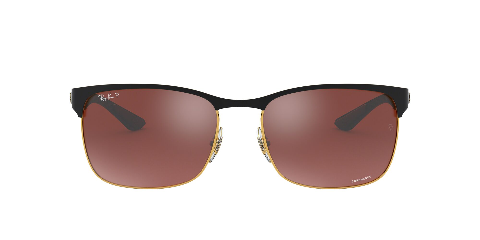 Front Ray-Ban Ray-Ban 0RB8319CH 9076K9 60/18 Goud/Rood