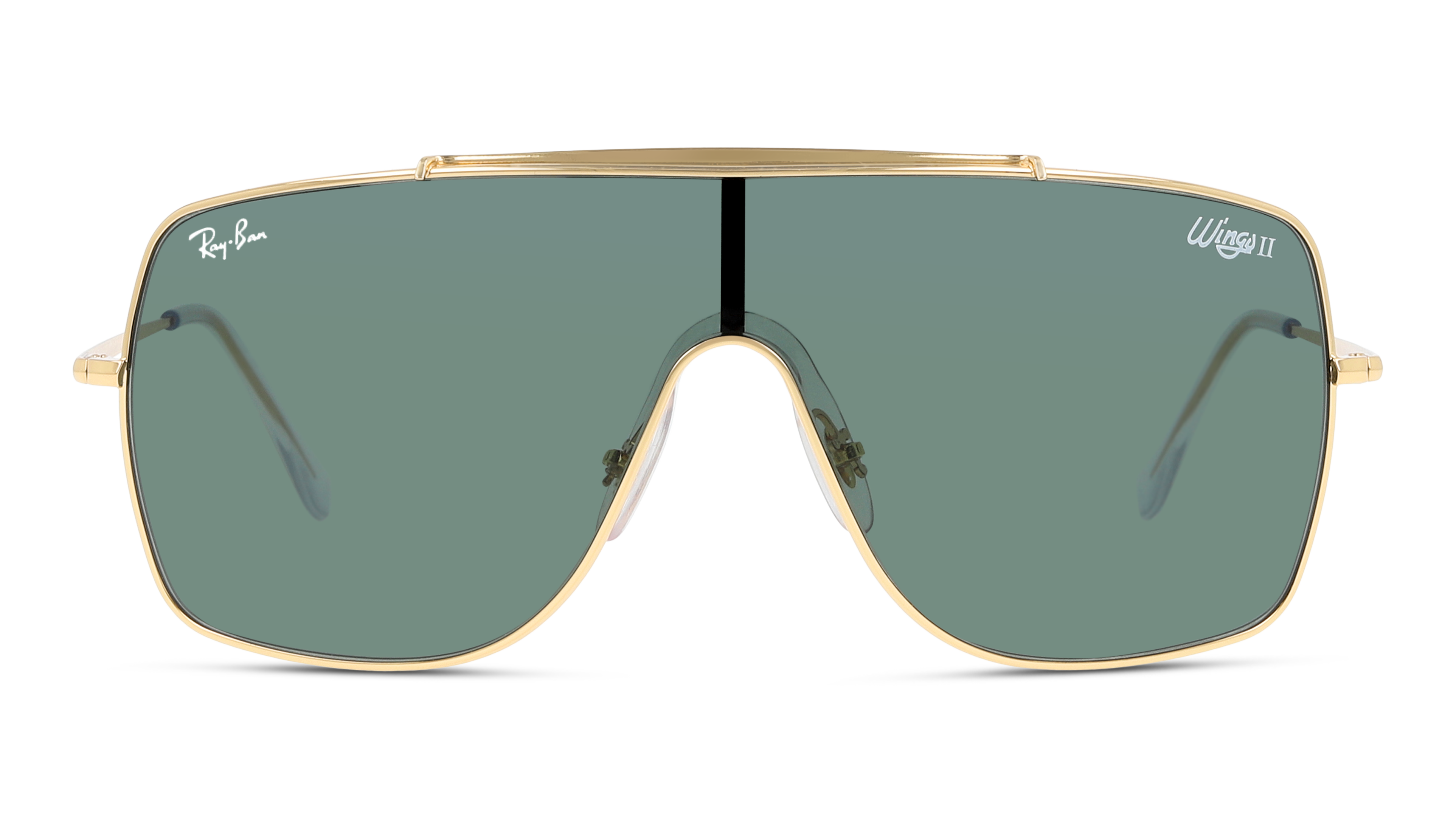 Front Ray-Ban Ray-Ban RB3697 905071 58/68 Goud/Groen