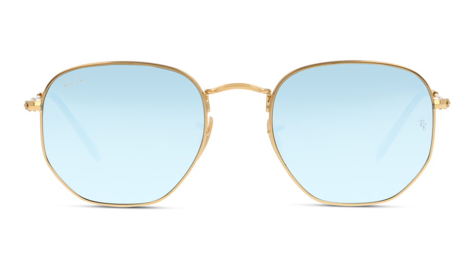 Front Ray-Ban Ray-Ban 3548N 001/30 54/21 Goud/Zilver