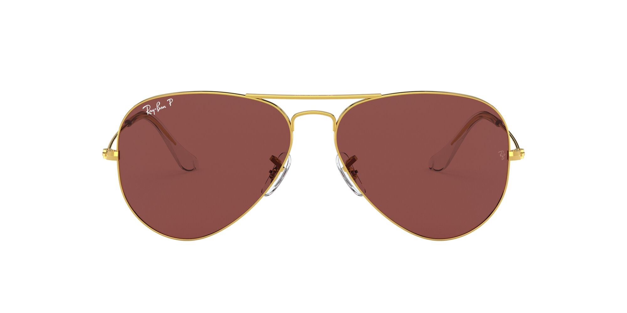 Front Ray-Ban Ray-Ban 0RB3025 9196AF 54/14 Goud/Paars