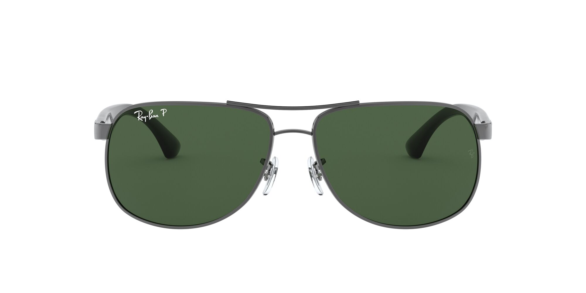 Front Ray-Ban Ray-Ban 3502 004/58 61/14 Zilver/Groen