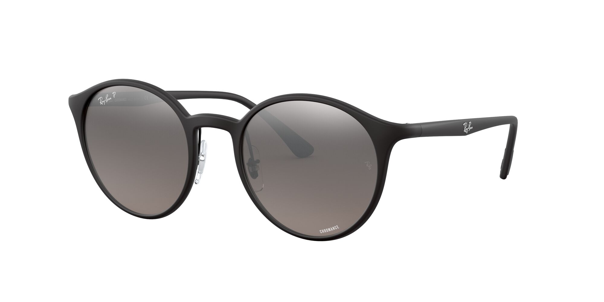 Angle_Left01 Ray-Ban Ray-Ban 0RB4336CH 601S5J 50/20 Zwart/Zilver