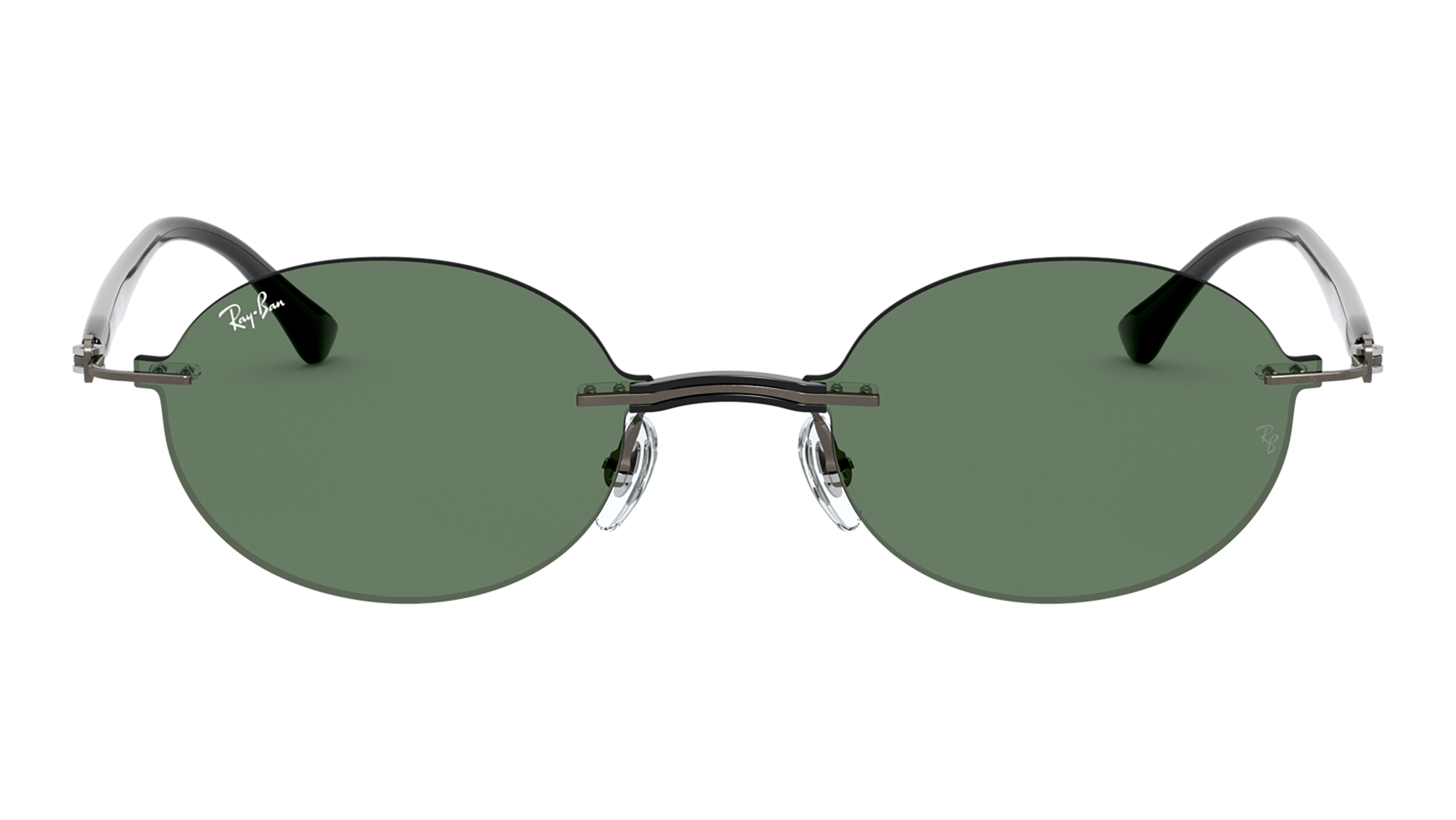 Front Ray-Ban Ray-Ban 0RB8060 154/71 54/15 Transparant, Zilver/Groen