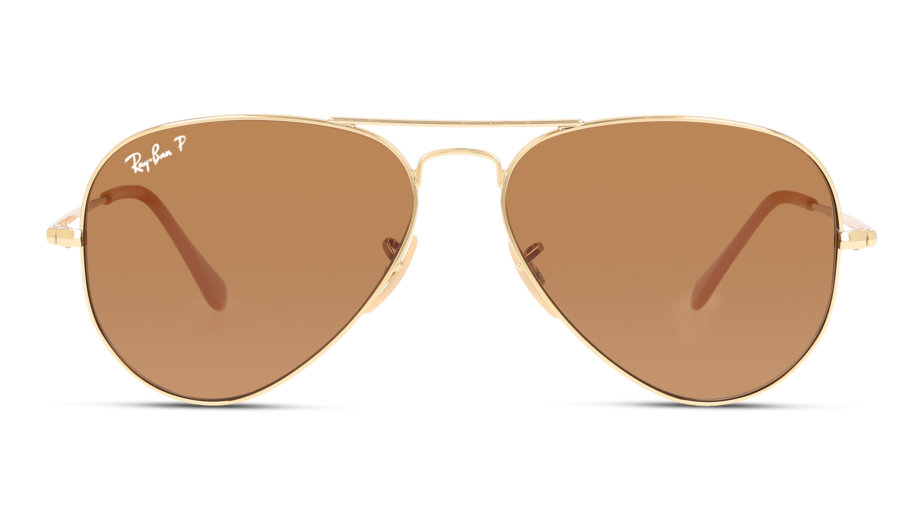Front Ray-Ban Ray-Ban 0RB3689 906447 55/14 Goud/Bruin