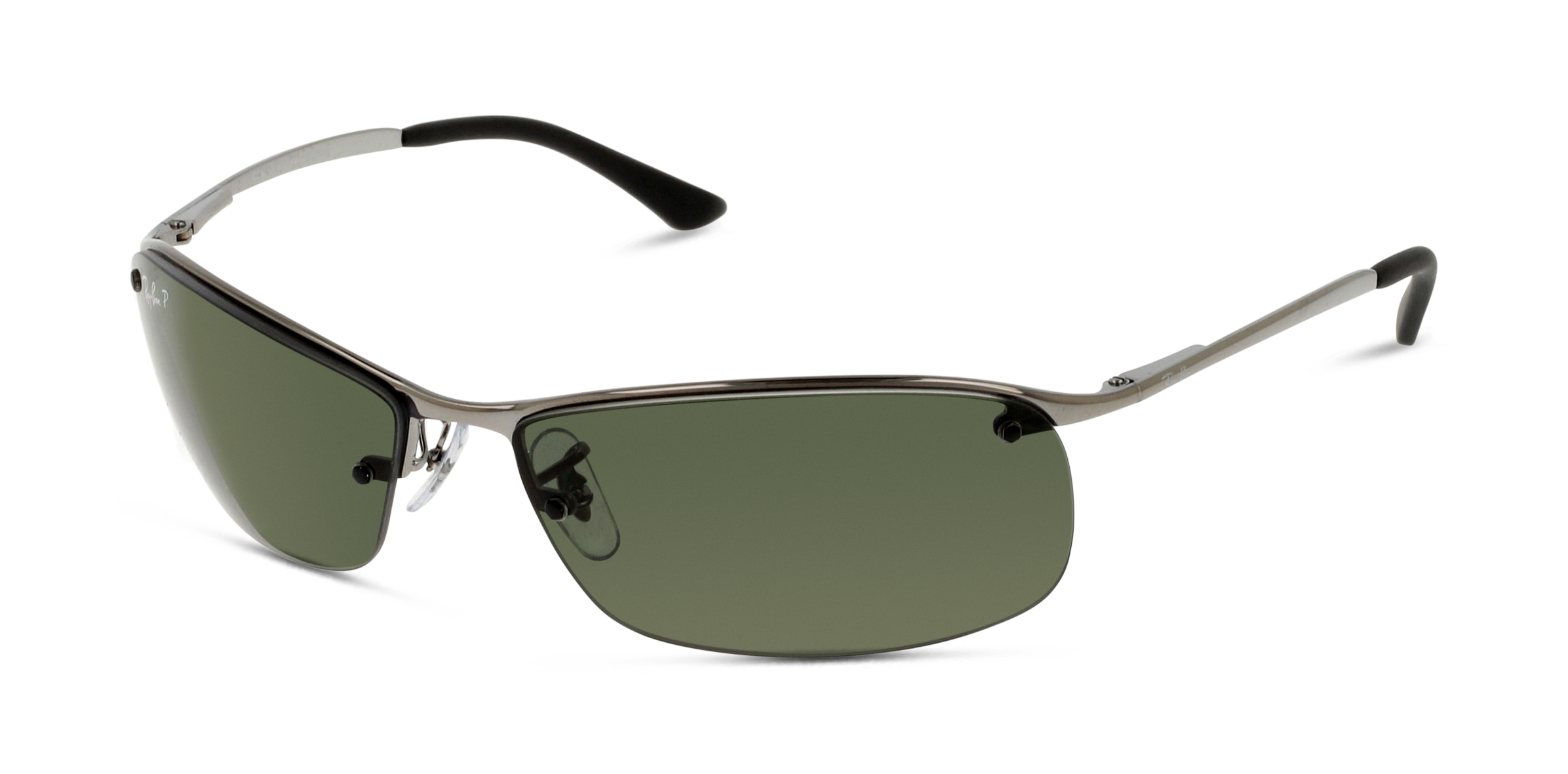 Angle_Left01 Ray-Ban Ray-Ban 3183 004/9A 63/15 Zilver/Groen