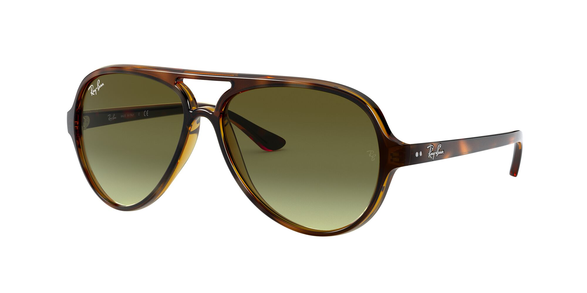 Angle_Left01 Ray-Ban Ray-Ban 0RB4125 710/A6 57/13 Zilver, Bruin/Groen