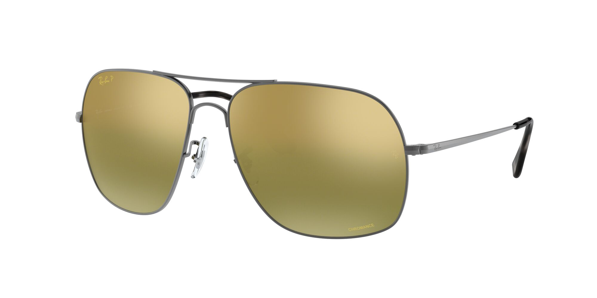 Angle_Left01 Ray-Ban Ray-Ban RB3587CH 029/6O 61/15 Zilver/Groen
