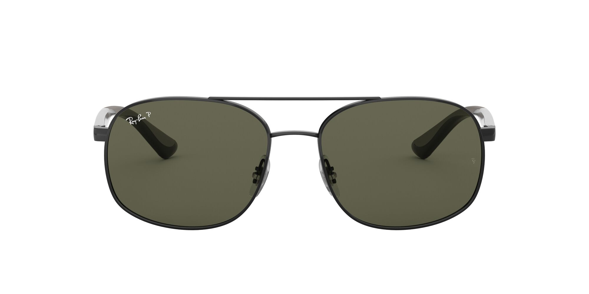Front Ray-Ban Ray-Ban 0RB3593 002/9A 58/17 Zwart/Groen