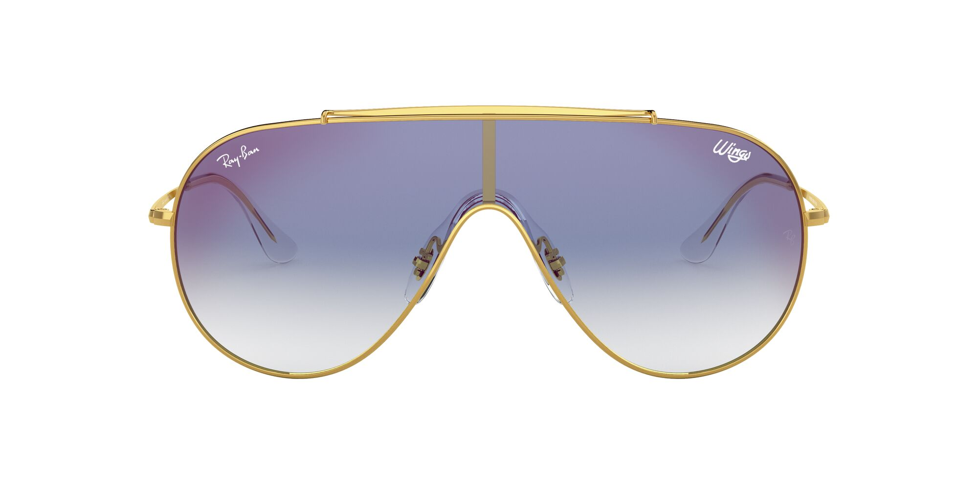 Front Ray-Ban Ray-Ban 0RB3597 001/X0 33/0 Goud/Blauw
