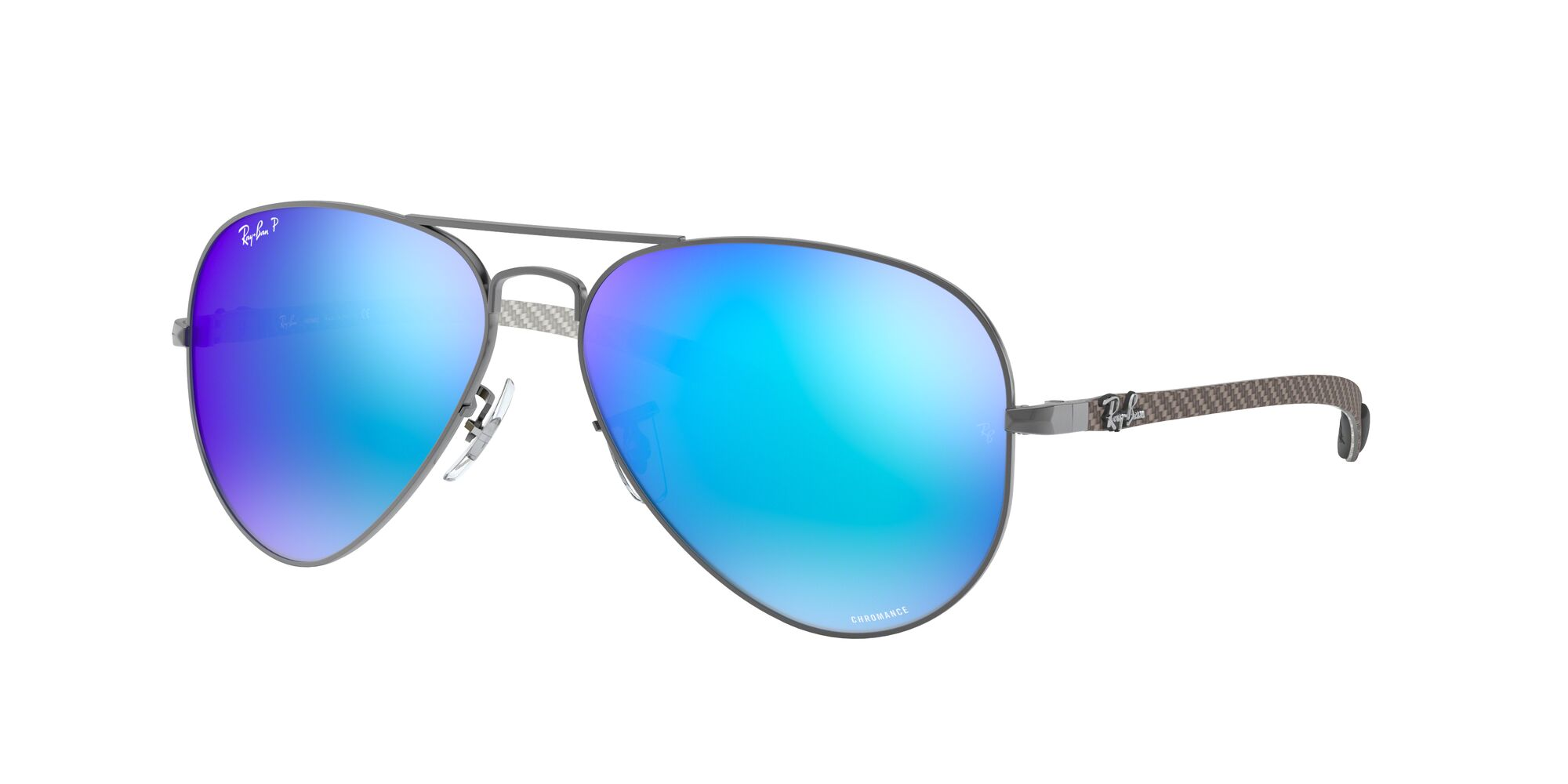 Angle_Left01 Ray-Ban Ray-Ban 0RB8317CH 029/A1 58/14 Grijs/Groen