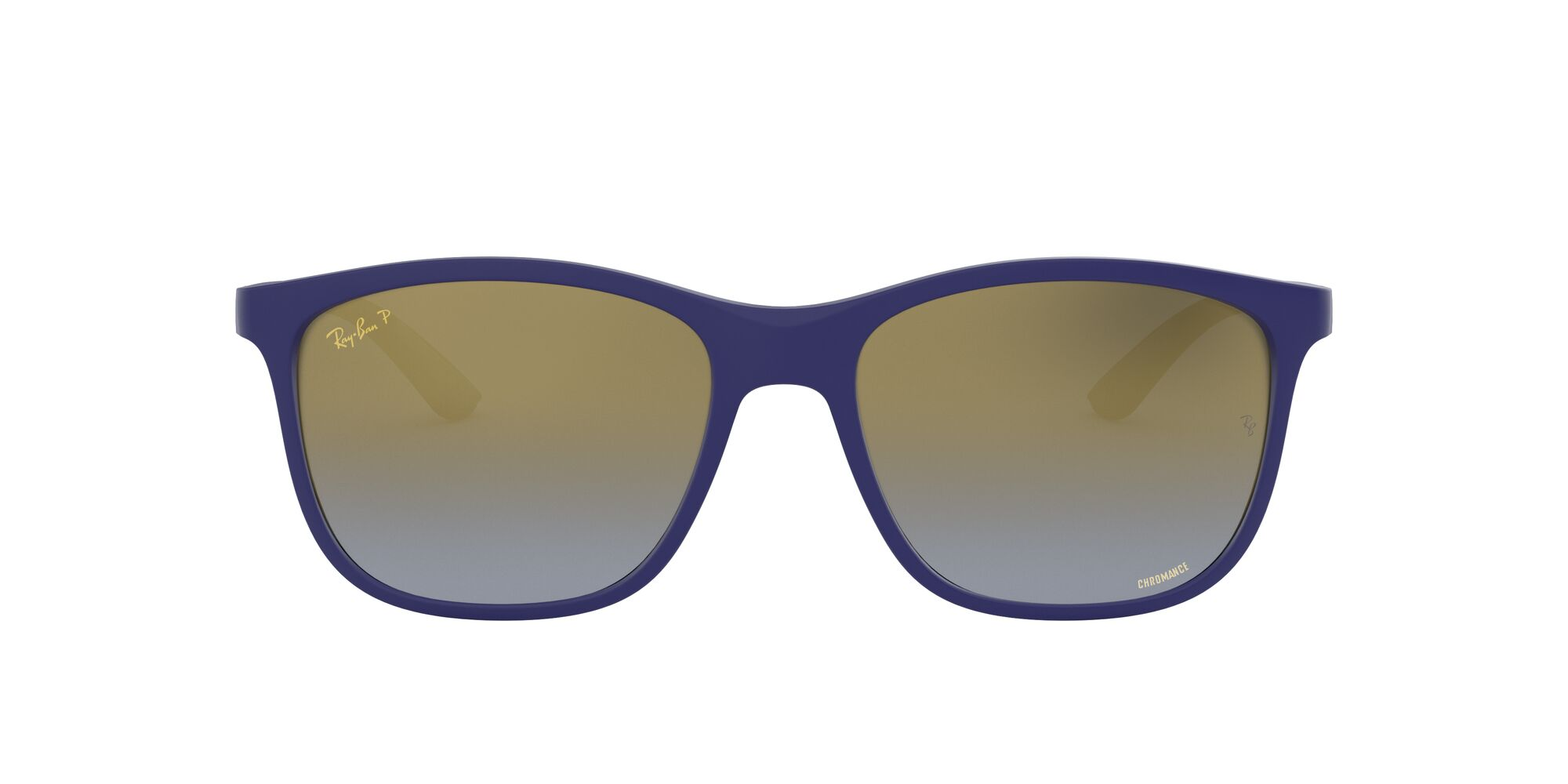 Front Ray-Ban Ray-Ban 0RB4330CH 6015J0 55/17 Blauw/Goud