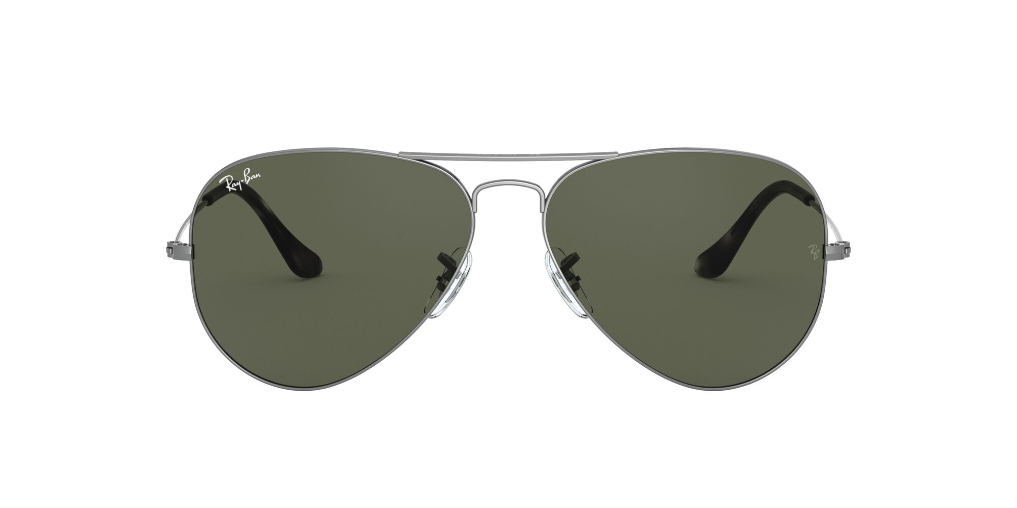 Front Ray-Ban Ray-Ban 0RB3025 919031 62/14 Zilver/Groen