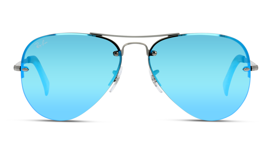 Front Ray-Ban Ray-Ban 3449 004/55 59/14 Zilver/Groen