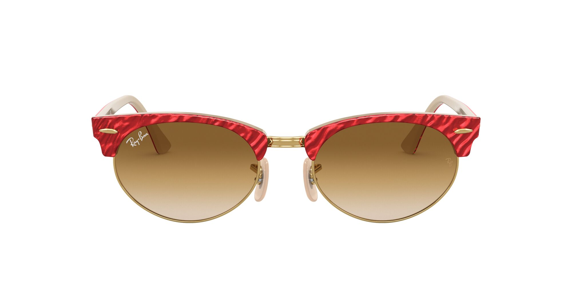 Front Ray-Ban Ray-Ban 0RB3946 130851 51/19 Rood, Beige/Bruin