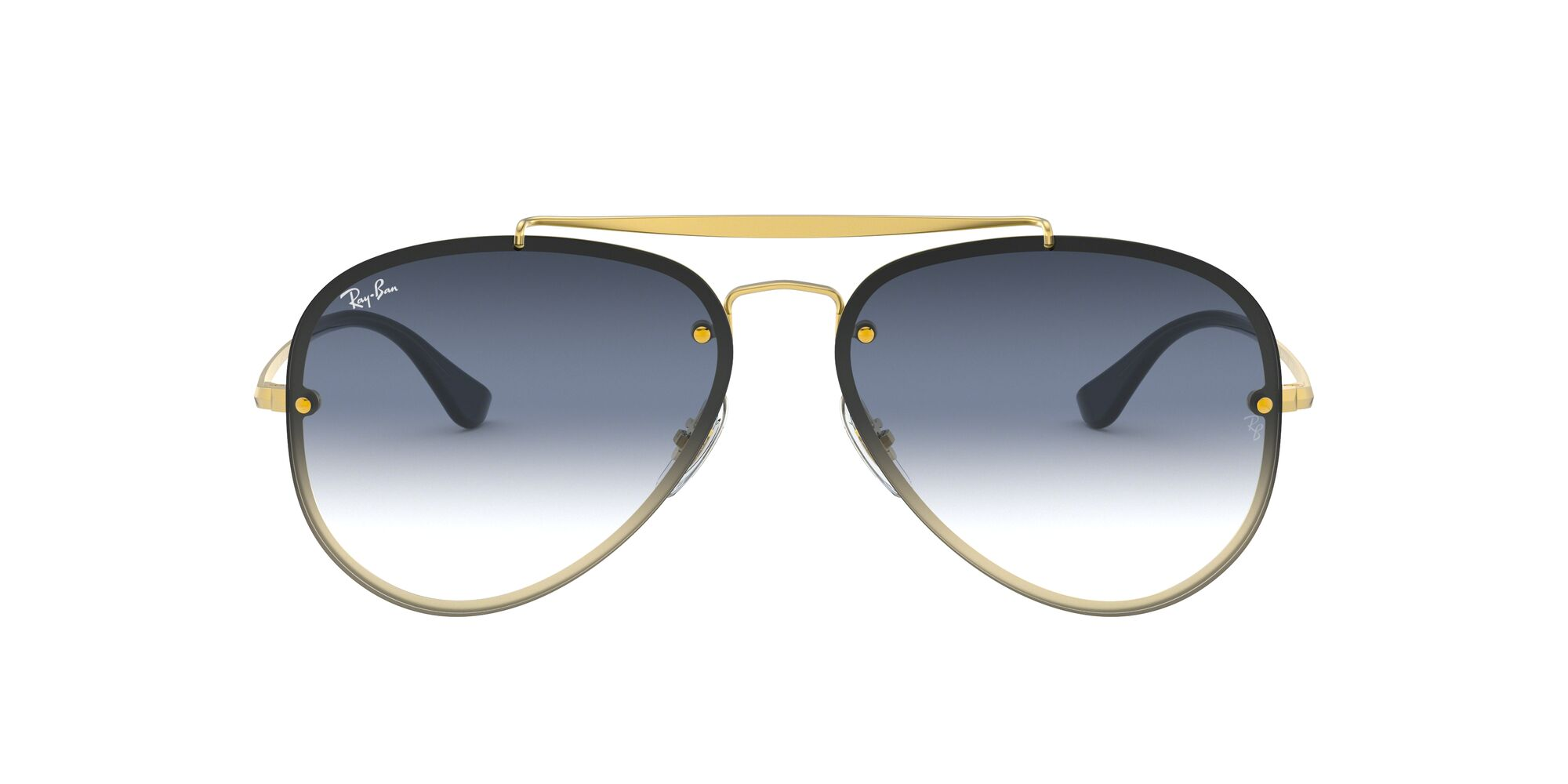 Front Ray-Ban Ray-Ban 0RB3584N 91400S 61/13 Goud/Grijs
