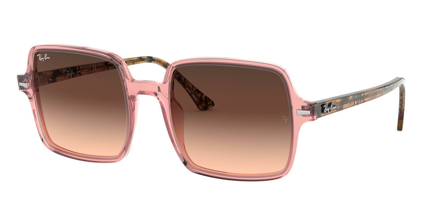 Angle_Left01 Ray-Ban Ray-Ban 0RB1973 1282A5 53/20 Transparant, Roze/Bruin