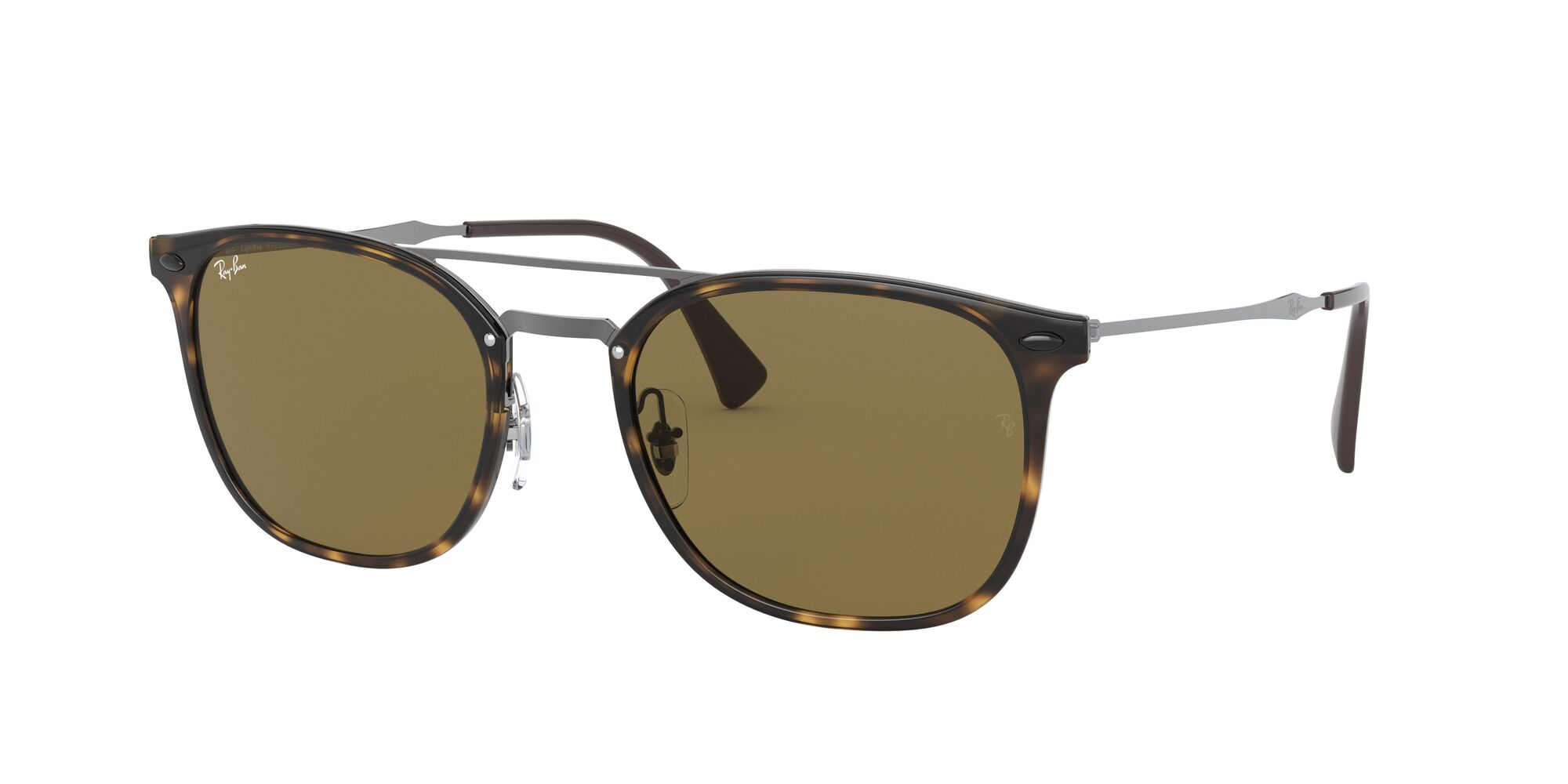 Angle_Left01 Ray-Ban Ray-Ban 0RB4286 710/73 55/21 Zilver, Bruin/Bruin