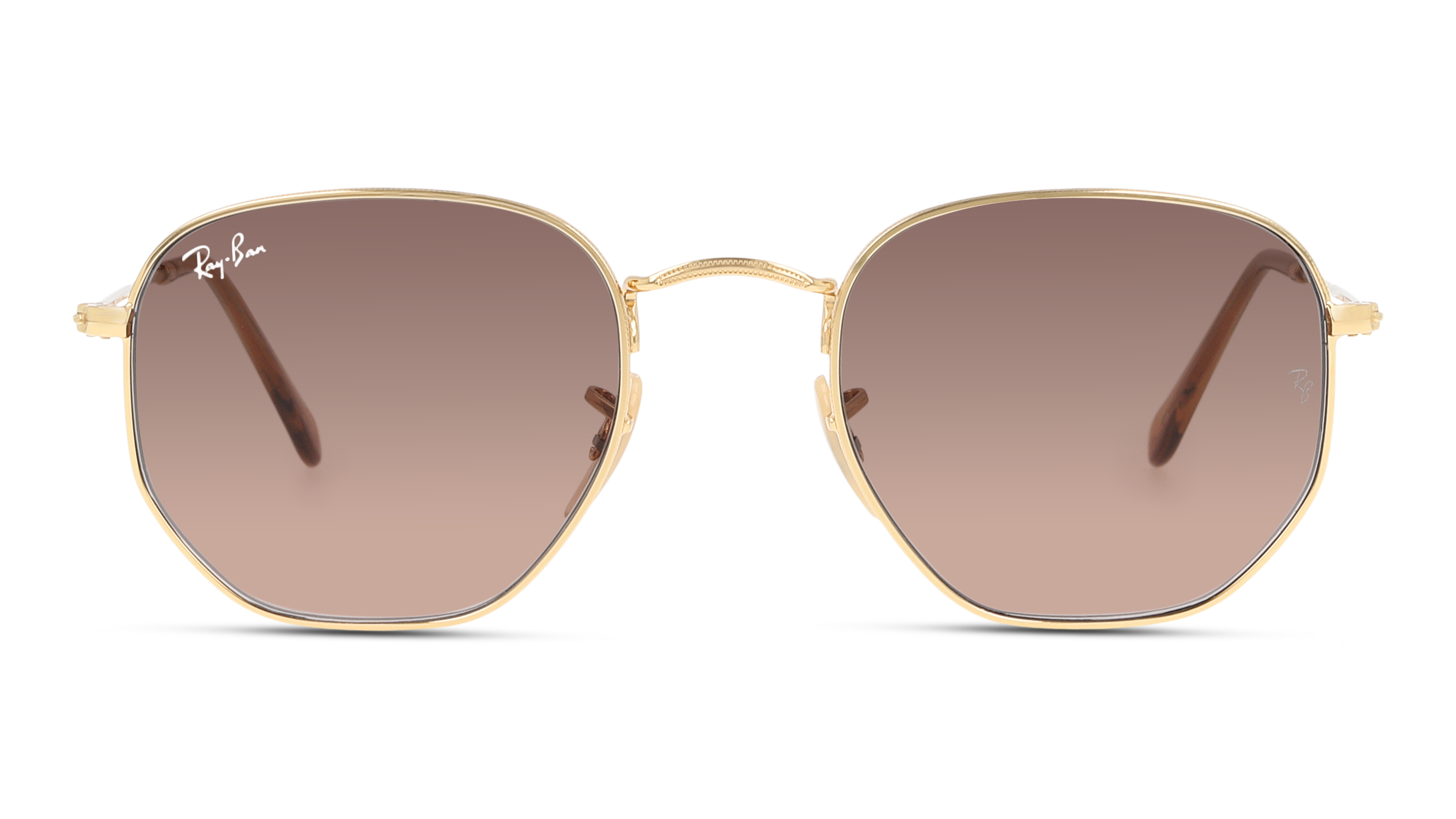 Front Ray-Ban Ray-Ban 0RB3548N 912443 48/21 Goud/Bruin