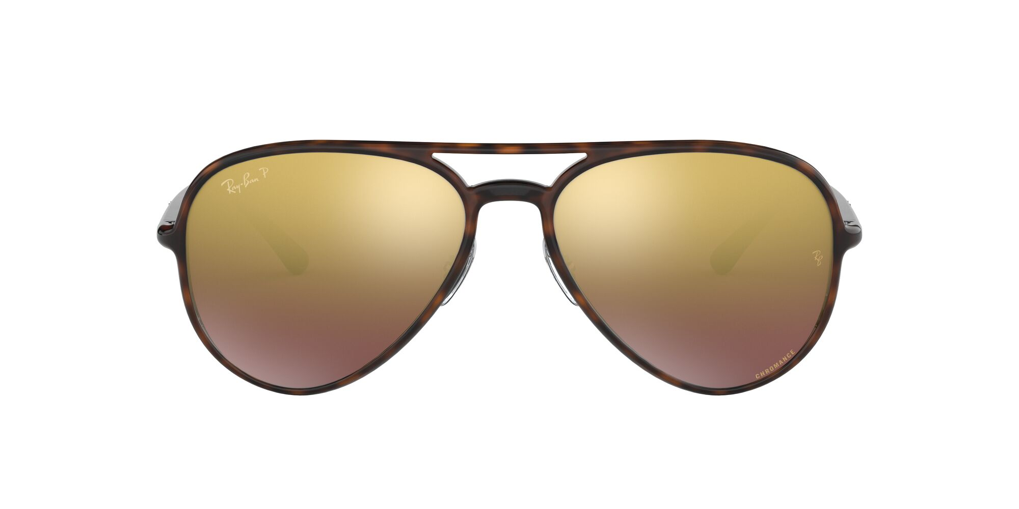 Front Ray-Ban Ray-Ban 0RB4320CH 710/6B 58/16 Bruin/Paars