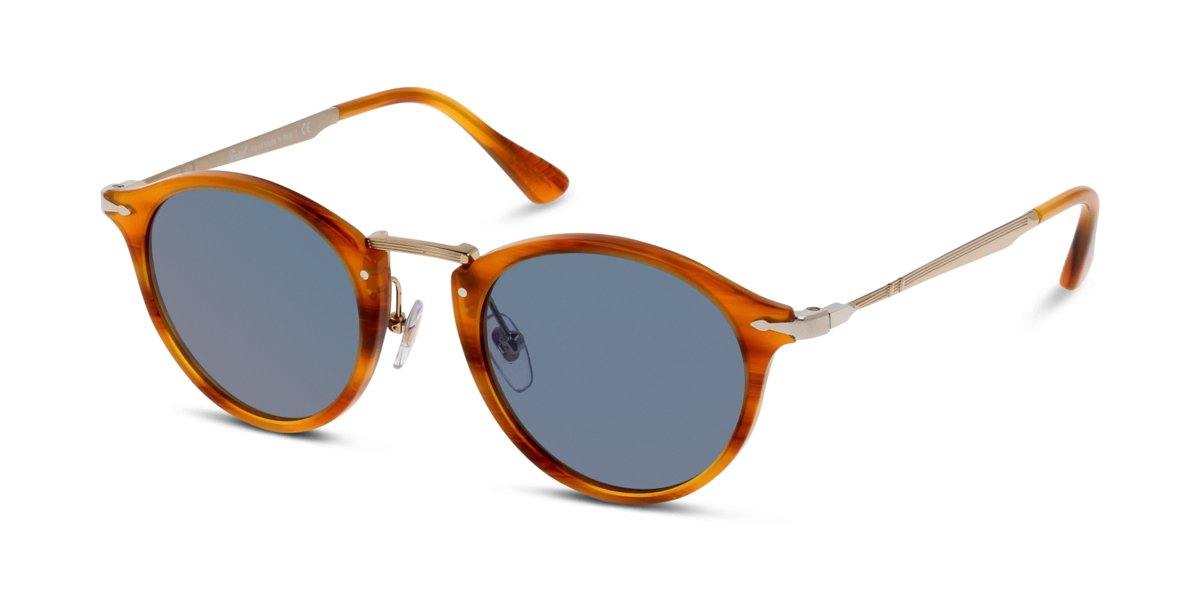 Angle_Left01 Persol Persol 3166S 960/56 49/22 Bruin, Goud/Blauw
