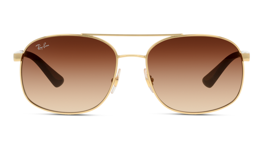 Front Ray-Ban Ray-Ban RB3593 001/13 58/17 Goud/Bruin