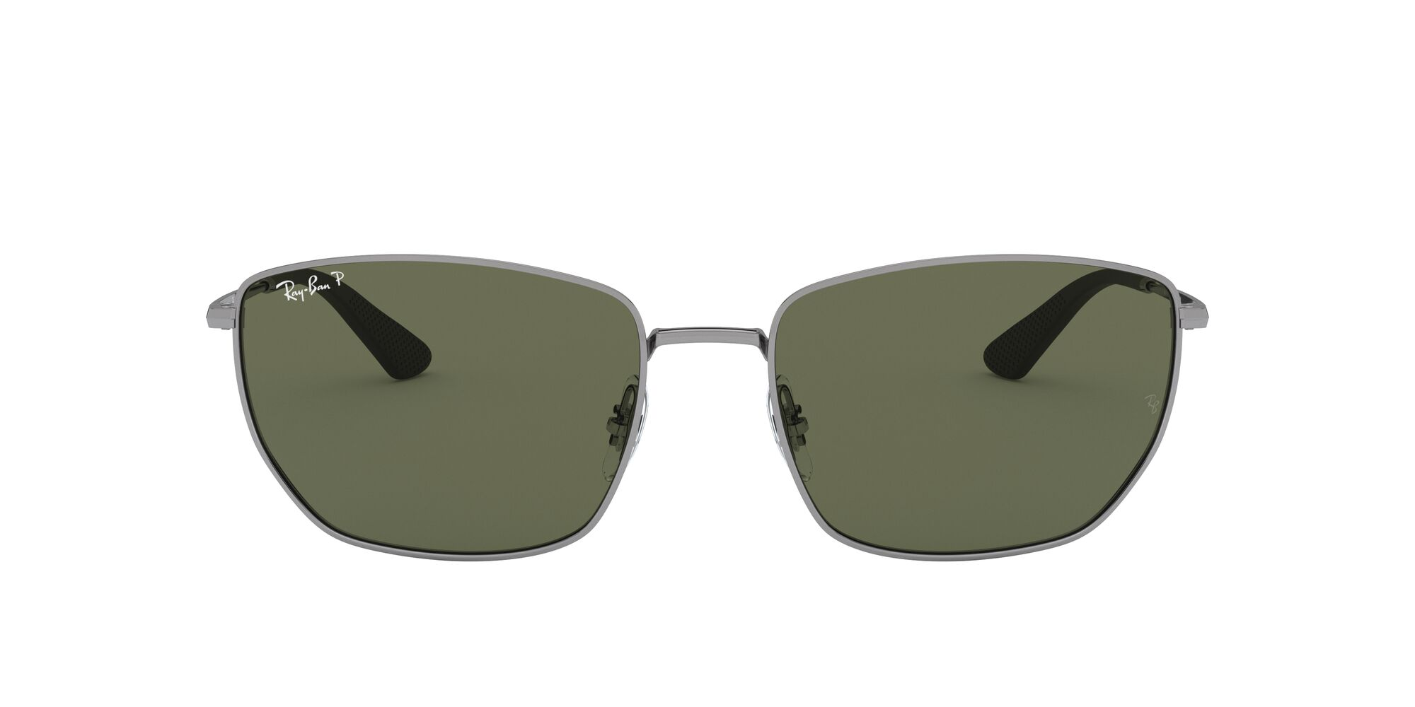 Front Ray-Ban Ray-Ban 0RB3653 004/9A 60/18 Zilver/Groen