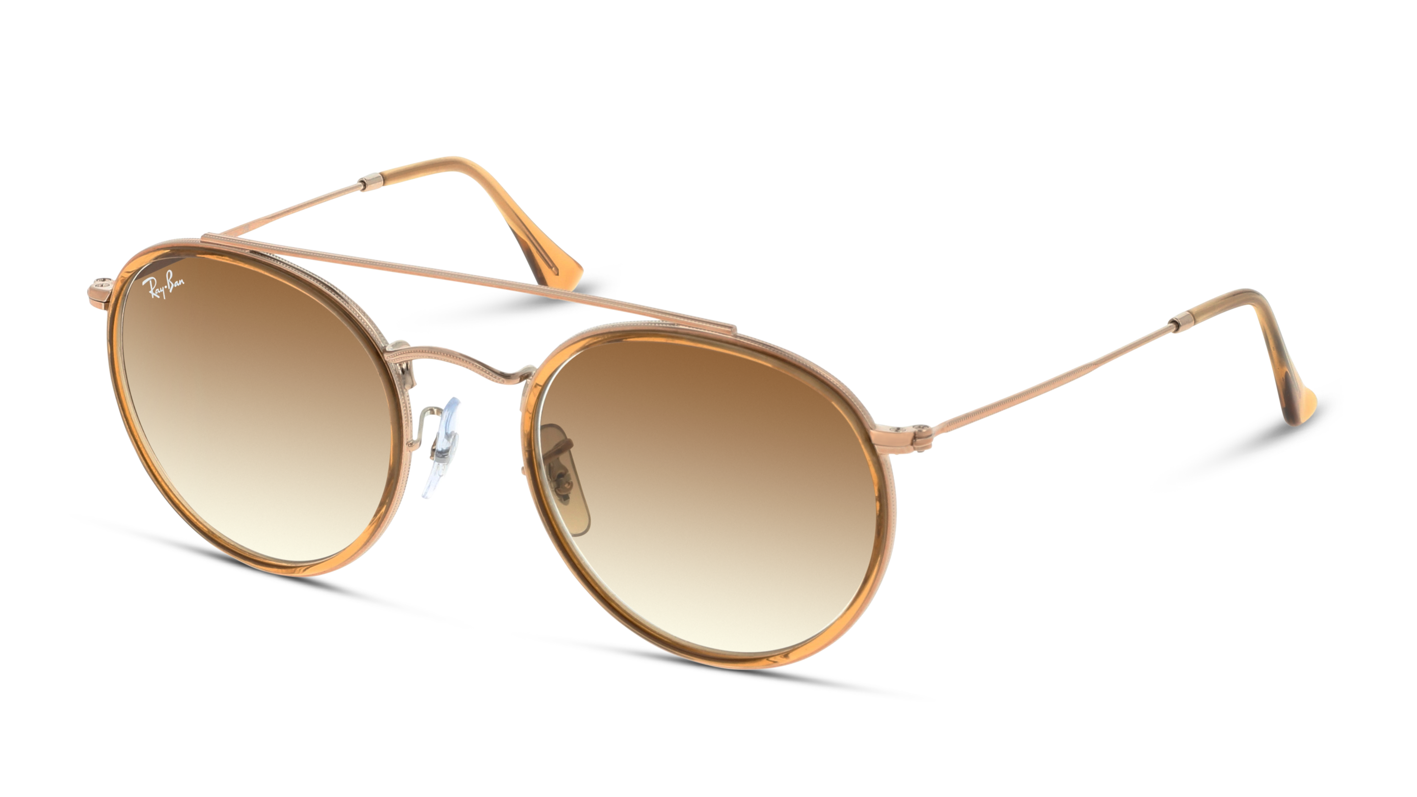 Angle_Left01 Ray-Ban Ray-Ban 0RB3647N 907051 51/22 Zilver, Bruin/Bruin
