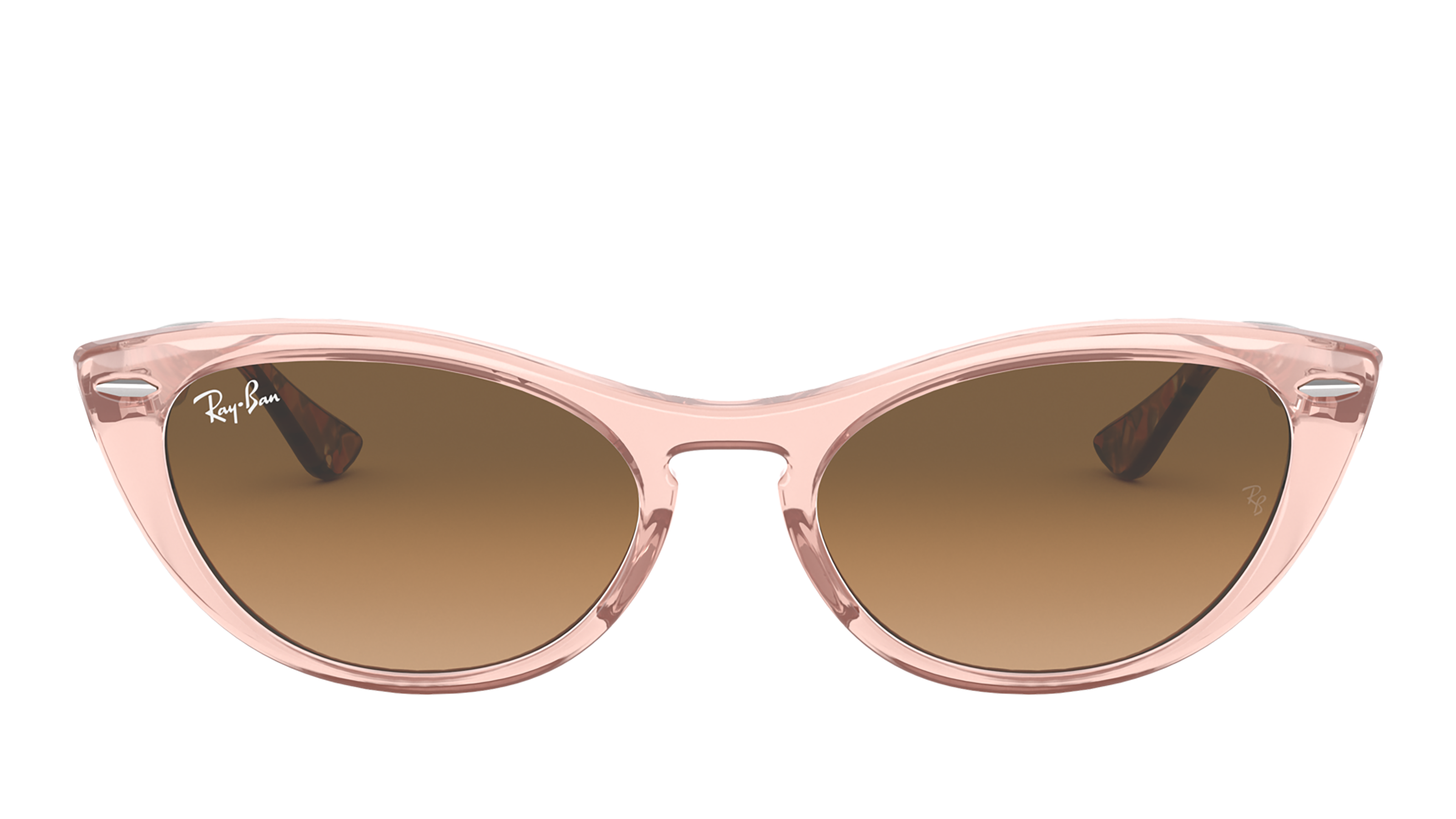 Front Ray-Ban Ray-Ban 0RB4314N 128151 54/18 Roze, Transparant/Bruin
