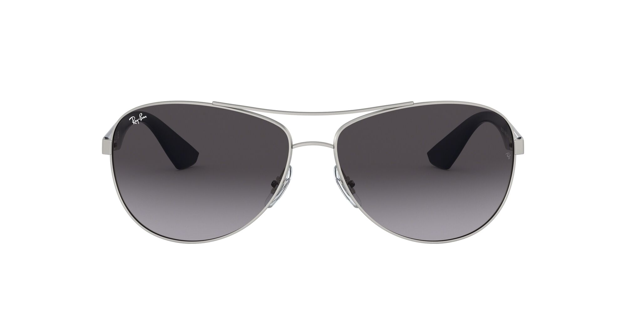 Front Ray-Ban Ray-Ban 0RB3526 019/8G 63/14 Zilver/Grijs