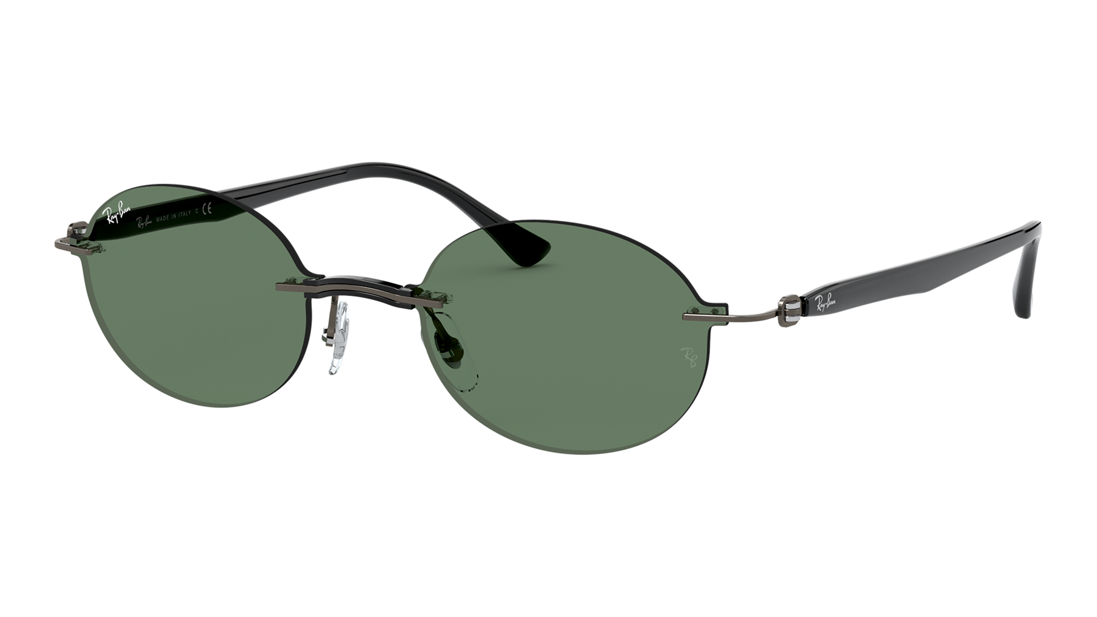 Angle_Left02 Ray-Ban Ray-Ban 0RB8060 154/71 54/15 Transparant, Zilver/Groen