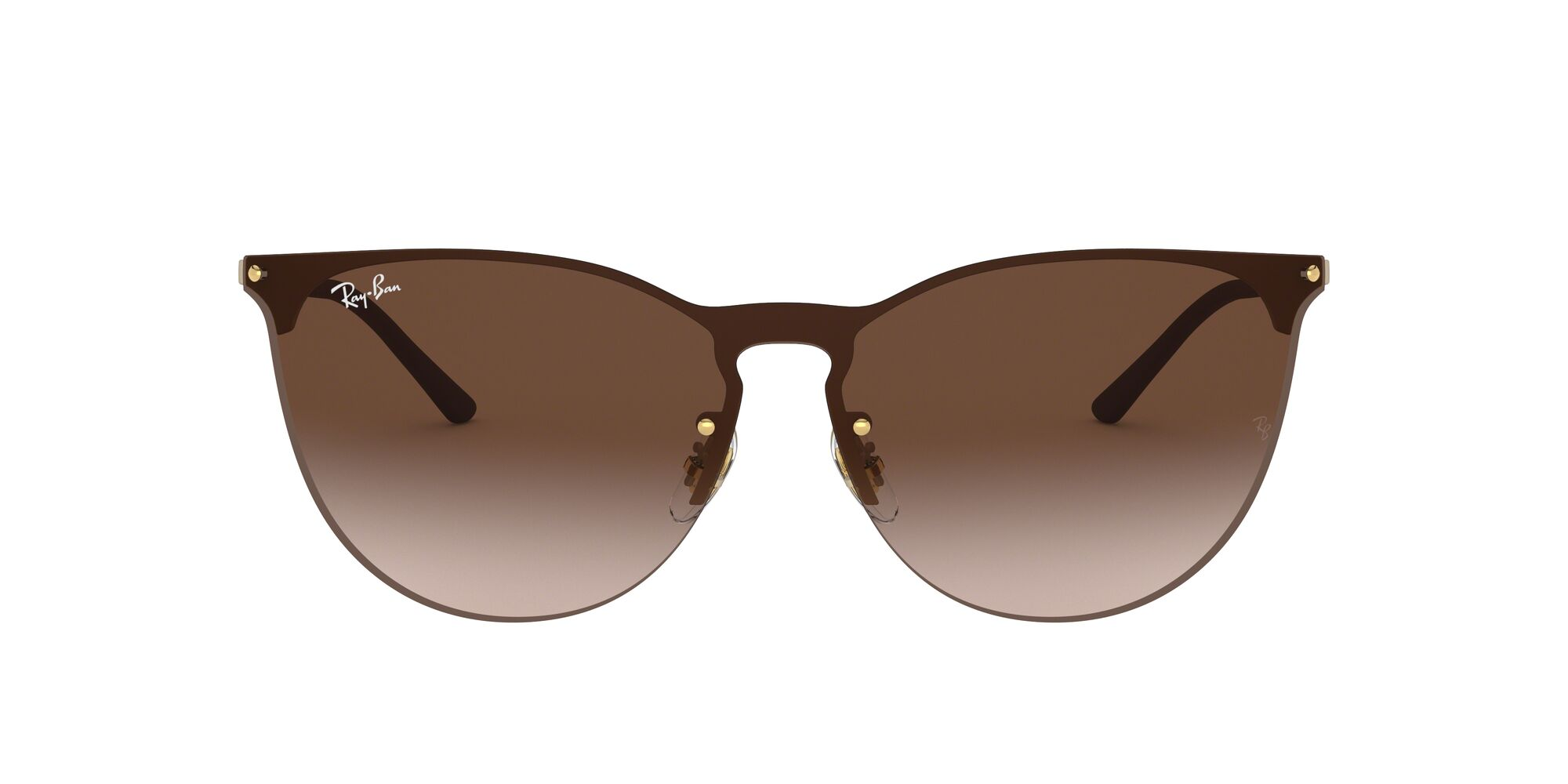 Front Ray-Ban Ray-Ban 0RB3652 901313 70/0 Goud/Bruin