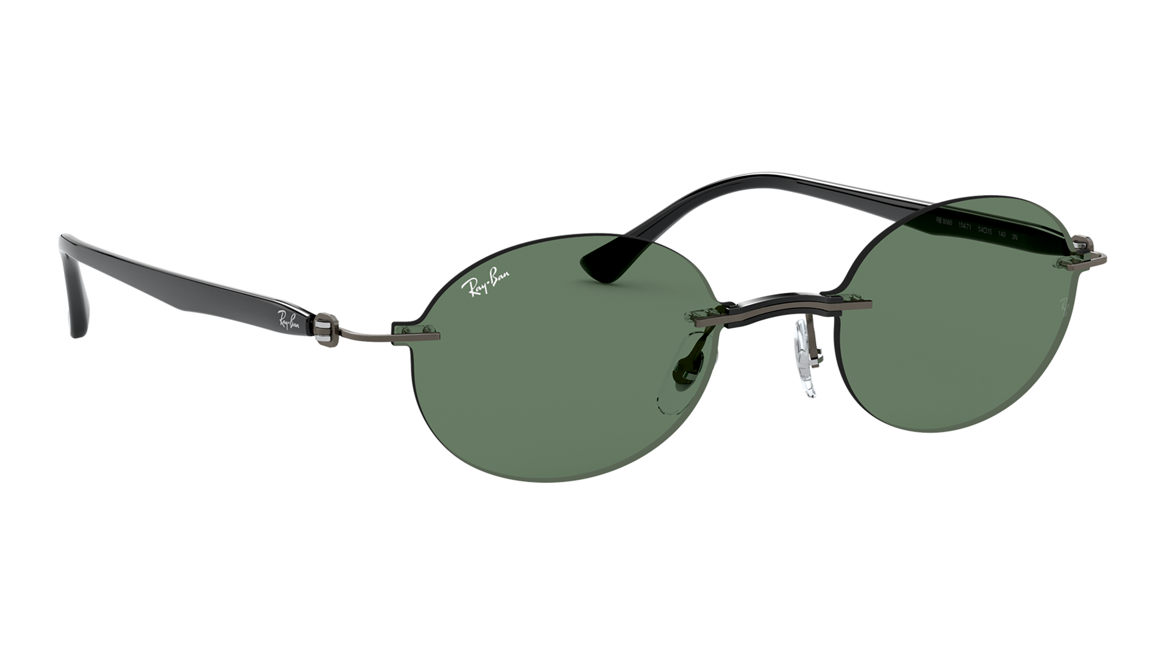 Angle_Right02 Ray-Ban Ray-Ban 0RB8060 154/71 54/15 Transparant, Zilver/Groen