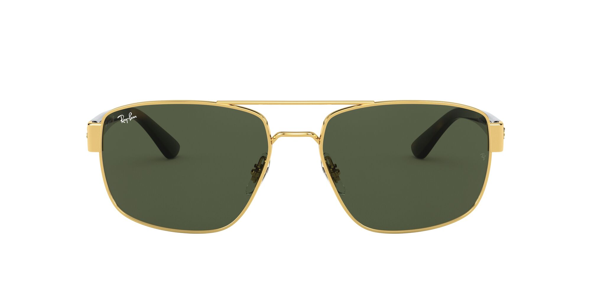 Front Ray-Ban Ray-Ban 0RB3663 001/31 59/17 Goud/Groen