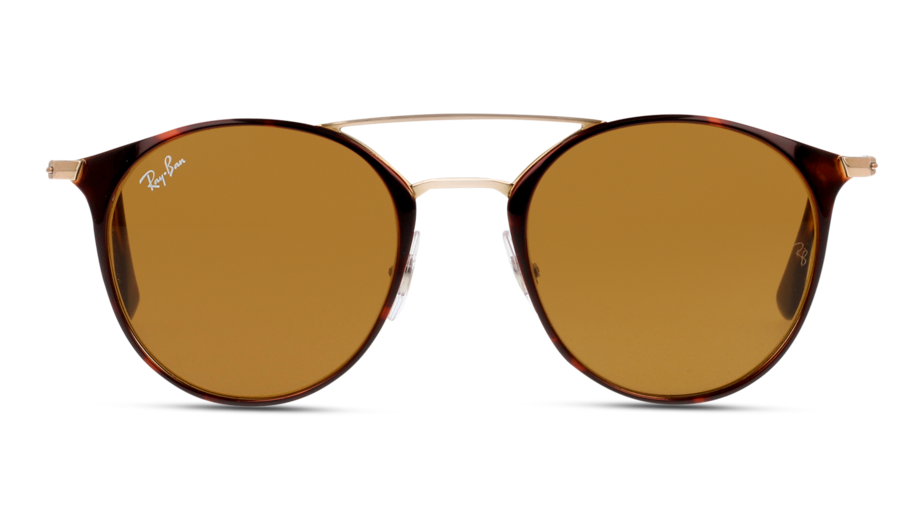 Front Ray-Ban Ray-Ban 0RB3546 9074 49/20 Goud, Bruin/Bruin