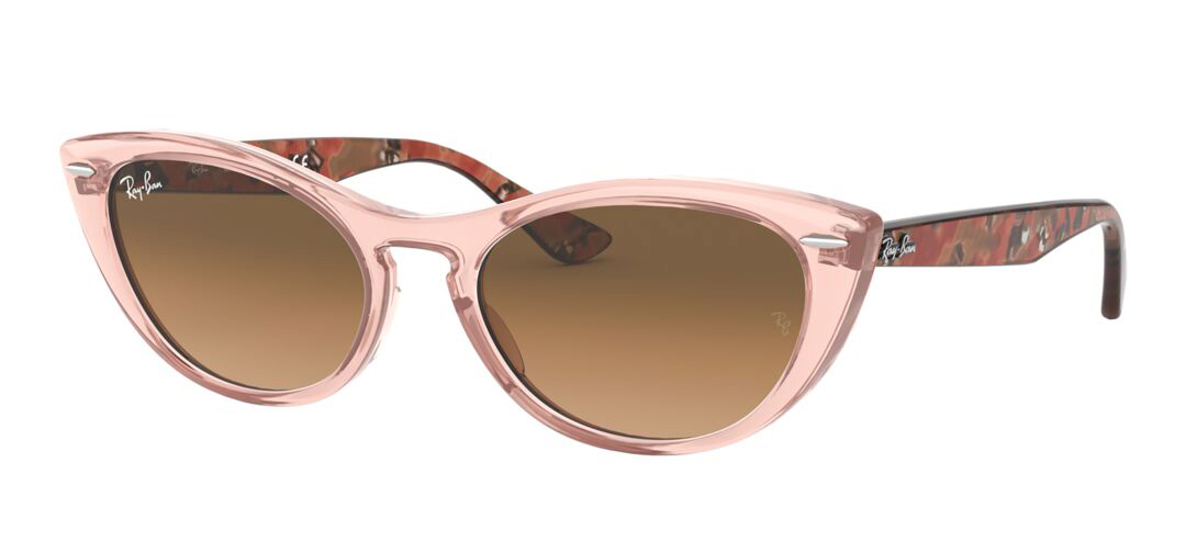 Angle_Left01 Ray-Ban Ray-Ban 0RB4314N 128151 54/18 Roze, Transparant/Bruin
