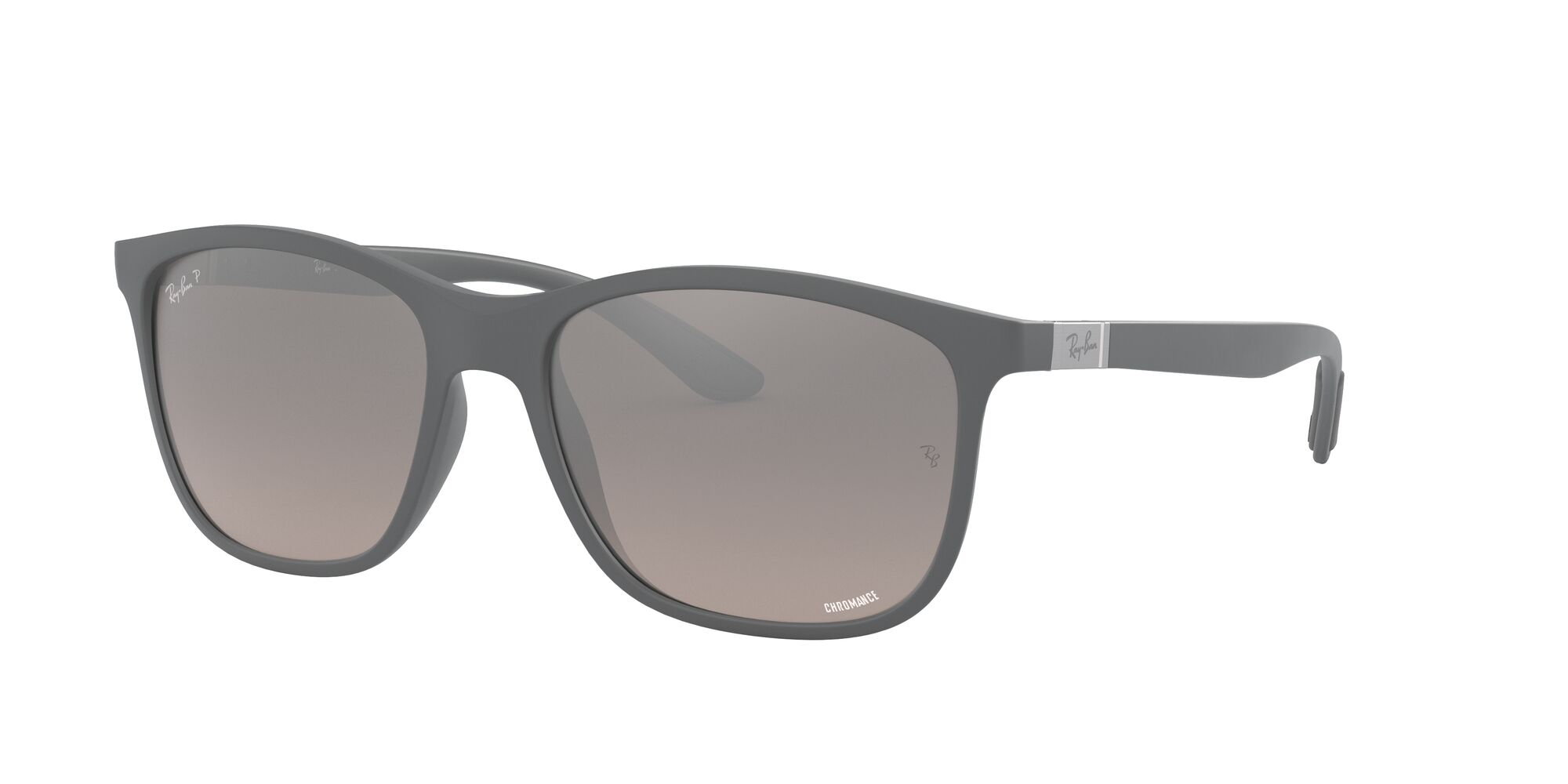 Angle_Left01 Ray-Ban Ray-Ban 0RB4330CH 60175J 56/17 Grijs/Zilver
