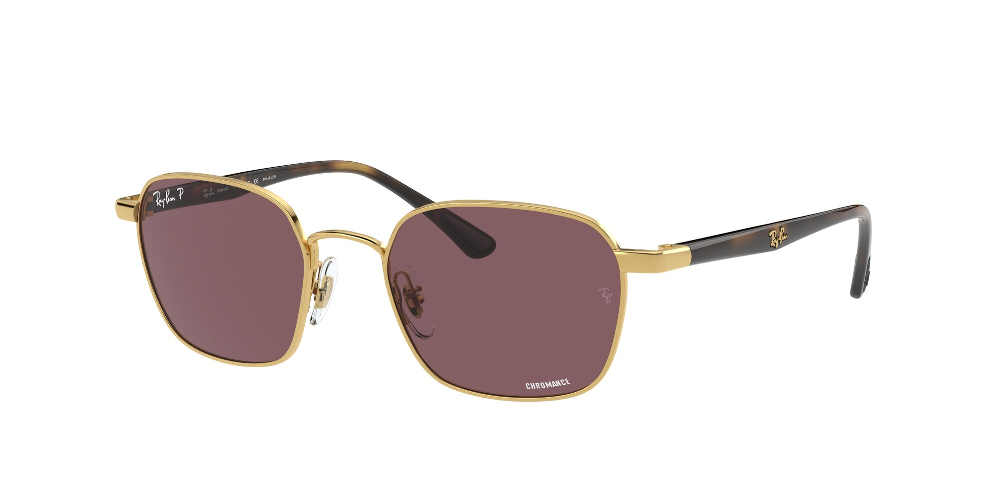 Angle_Left01 Ray-Ban Ray-Ban 0RB3664CH 001/BC 50/19 Goud/Paars